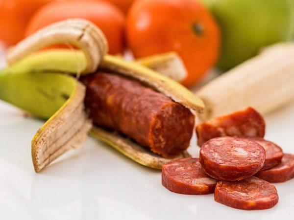 salami in a banana skin